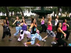 "Zumba Pitbull ""Pause"". To all my friends out there who don't understand why I like Zumba so much."