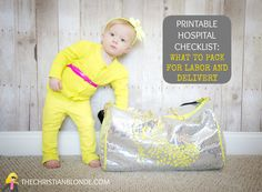 Free Printable Hospital Checklist: What To Pack For Labor & Delivery, Maternity, Pregnancy, Birth, Birthing, C-Section, Newborn, Baby, List, The Best, Ultimate, Biggest, Packing, Must-Haves, Blog, Blogger, The Christian Blonde, Baby