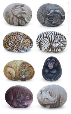 Looking ideas for making art rock for your home decor? Rock painting activities is one of the best ways to spend quality time with your child, it must be fun. Here are some stone art ideas that can inspire you. Hope you like it. Zebra Painting, Pebble Painting, Pebble Art, Stone Painting, Painting Art, Stone Crafts, Rock Crafts, Animals Tattoo, Art Rupestre