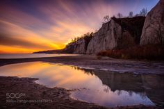 Sunset Explosion by bluffer's park clouds landscape light long exposure nature reflection sky water Sunset Explosion jmr Scarborough Bluffs, Scarborough Ontario, Sunset Photography, Long Exposure, Landscape Lighting, Sunrise, Clouds, Sky, Park