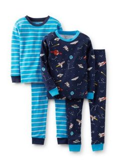 60679fc5b3c75 Carters 4-Piece Space Theme Pajama Set Baby Boy Pajamas, Toddler Boys,  Carters