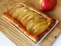 Cómo hacer un dulce de hojaldre con manzana en el horno de una manera fácil y rápida. Receta sin crema.