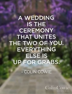 Something to remember as you plan your wedding