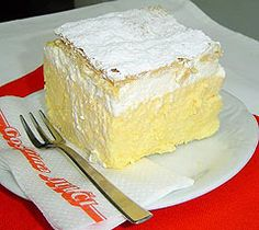 Krempita is a Bosnian dessert. The ingredients used are sheets of puff pastry, milk, corn starch, vanilla sugar, eggs and whipping cream. First  the puff pastry sheets are baked and left to cool. Then the cream that is boiled at a small heat and stirred constantly then left to cool. The cream is spread on the sheet and covered and then is left in refrigerator. Before serving it is powdered. The cream can differ and sometimes instead of filo on top, whipped cream is used.
