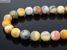 Natural Matte Crazy Lace Agate 12mm Frosted Gems stones Round Ball Loose Spacer Beads 15''   5 Strands/ Pack