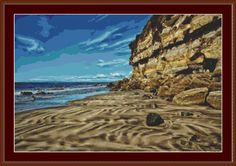 Ripples In The Sand Cross Stitch Pattern by Avalon Cross Stitch on Etsy