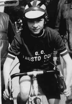 Un giovanissimo Marco Pantani .