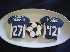 soccer cookies Soccer Cookies, Cake Cookies, Sugar Cookies, 7th Birthday, Cakes, Shower, Chocolate, Guys, Sports