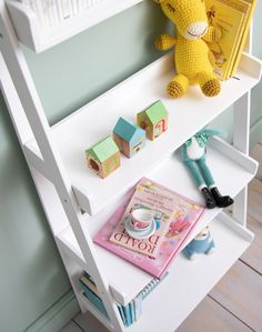This contemporary Standing Shelf Unit is essential for any child's bedroom. Decked out with four spacious shelves, the piece provides stylish storage for your little one's bits and bobs. #shelf #kidsstorage #kidsfurniture #shelving Childrens Bedroom Furniture, Kids Bedroom, Kids Storage, Storage Spaces, Free Standing Shelves, Bedroom Storage, Colour Schemes, Ideal Home, Storage Solutions