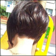 Short Stacked Bob   hair   Pinterest   Einfache Frisuren