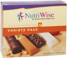 NutriWise - Variety Pack Diet Protein Bars (7 bars) ** Additional details at the pin image, click it  : Bars Snacks Weight loss dietry