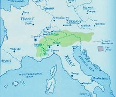 """""""Persecution eventually drove the Waldensians to settle in the Alps along the French-Italian border and across northern Italy, southern Switzerland, and western Austria""""(The Origin of the Waldensians)."""