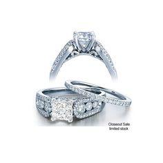 1 Carat Diamond Bridal Set On Closeout Wedding Sets Engagement Rings