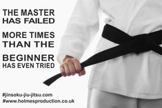 The master has failed. Warrior Images, Martial Arts Quotes, Healthy Words, Karate, Inspirational Quotes, Taekwondo, Wisdom, Belt, Woman