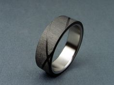 Reserved Listing -- Carbon Fiber and Titanium ring -- Helix Pattern