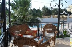 A nice shady corner on the terrace of Villa Rijo