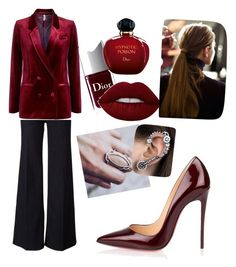 Red wine by lil-kama on Polyvore featuring polyvore, fashion, style, Topshop, Paul Smith, Christian Louboutin, Christian Dior and clothing