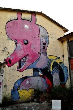 Street art   Mural by Aryz