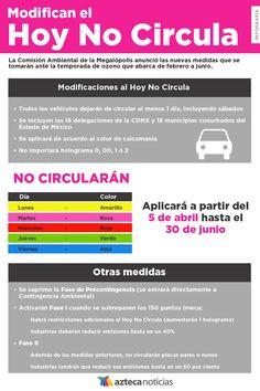 Modifican el Hoy No Circula #infografia