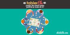 Juego de mesa TablerEle nivel A1. Juego de mesa parecido al Party para repasar los contenidos del nivel A1 de español de manera muy dinámica y divertida.
