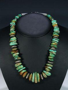 Navajo Jewelry Thick Single Strand Kingman Turquoise Necklace