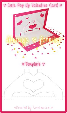 Valentine craft - free valentine card template