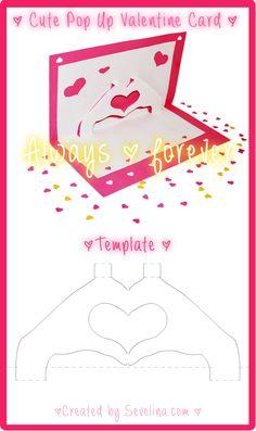 Valentine craft - free valentine card template