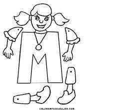 Resultado de imagen para Colorea los dibujos que tengan la letra m