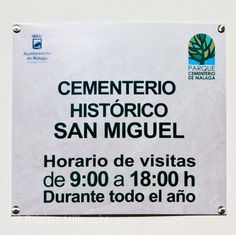 #Málaga #Guide #HistoricalSanMiguel #Cemetery  For more information: http://www.amazon.co.uk/M%C3%A1laga-Capital-Coast-Brigitte-Hilbrecht/dp/1517300533/ref=sr_1_1?s=books&ie=UTF8&qid=1456574193&sr=1-1&keywords=malaga