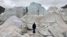 Our COP21 featured artist George Steinmann on the Rhone Glacier!