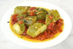 Zucchini with garlic and tomato, a recipe from the Greek island of Crete