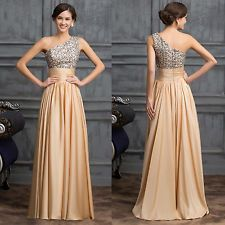 One-shoulder Long Sexy Women Sequins Adorned Gown Evening Prom Banquet Dresses