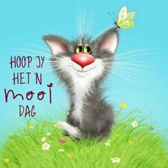 hoop jy het'n mooi dag Cute Little Kittens, Cute Cats, Animals And Pets, Cute Animals, Matou, Funny Cats And Dogs, Cool Pets, Cat Drawing, Crazy Cats