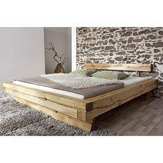 SAM® Holzbett Johann 180 x 200 cm mit Schubkästen Bett aus geölter Wildeiche Holz massiv