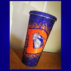 Denver Broncos Tumbler by BlingedObsessions on Etsy Denver Broncos Players, Denver Broncos Gear, Denver Broncos Football, Broncos Fans, Football Baby, Football Season, Broncos Memes, Bronco Sports, Pure Products