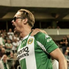 GOAL!!!!! Go Hammarby!!! Tonight on TBS is the replay of Alex's appearance on Conan!!