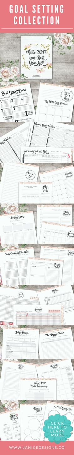 Are you ready to focus and achieve more this 2017? This elegant Life Planner is crafted to help you to have clarity around your goals, projects, schedule and life. Goal setting, printables planners, organize, productive