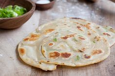 Green Onion (Scallion) Pancake- omit or replace bouillon...stupid people adding dead animals to recipes that traditionally don't call for them :(