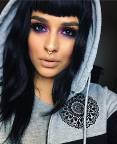Makeuphall: The Internet`s best makeup, fashion and beauty pics are here. Makeup Goals, Love Makeup, Makeup Inspo, Makeup Inspiration, Makeup Tips, Black Hair Makeup, Makeup Ideas, All Things Beauty, Beauty Make Up