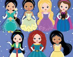 Costume principessa Clipart, costumi di partito, principessa, principessa grafica - parte 2