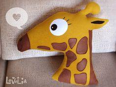 Minda the Giraffe CUSHION -Decorative plush pillow -