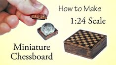 Miniature Chessboard Tutorial - Part 1 | Dollhouse | How to Make 1:24 Sc...