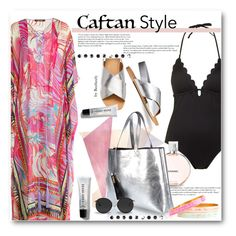 """Caftan Style"" by beebeely-look ❤ liked on Polyvore featuring Roberto Cavalli, Topshop, Cullen, Chanel, River Island, Linda Farrow and Bobbi Brown Cosmetics"