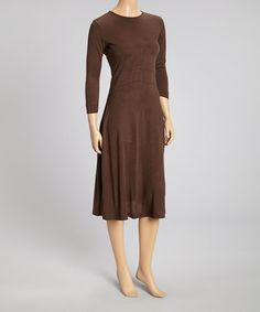 Look what I found on #zulily! Brown Long-Sleeve Midi Dress - Women by I-N-S-I-G-H-T New York #zulilyfinds