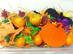 Preschool Halloween Sensory Tub