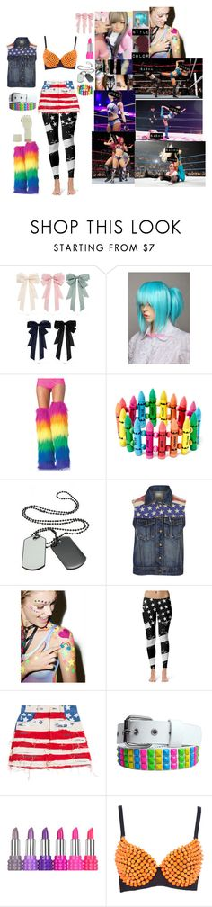 """""""🇺🇸 Junko Yosano 🇺🇸- Junko Vs Sasha Banks"""" by iron-maiden-amy ❤ liked on Polyvore featuring Brave Soul, Wicked Hippie, Marc Jacobs, Kat Von D, WWE, wweoc, wweattire and wweocattire"""
