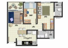 Planta-de-casa-com-dois-quartos1.jpg (625×442)