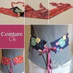 Ceinture OBI Le Obi est un élément important du vêtement japonais, traditionnellement aucun bijou n'est porté, c'est le obi qui le remplace en éclairant par contraste le tissu du kimono. Ces ceintures accessoirisent parfaitement un pantalon ou une robe.  A nouer / Réversible Dimensions : 80 cm (sans compter les rubans) sur 10 cm de haut #ceintureobi