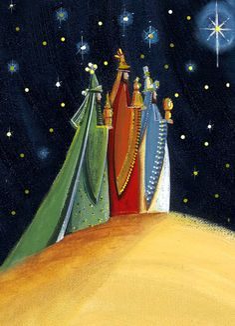 German Culture: Three Kings and Epiphany (January by esmeralda 12 Days Of Christmas, Vintage Christmas Cards, Christmas Images, A Christmas Story, Christmas Art, Xmas, Christmas Paintings, Deco Noel Nature, We Three Kings