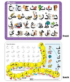 Arabic language alphabet